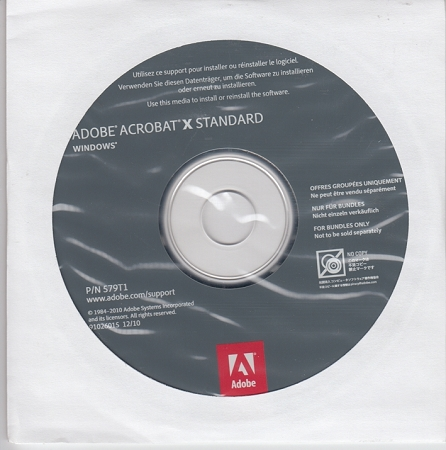Solved: Acrobat X Standard from Dell (download) - Adobe