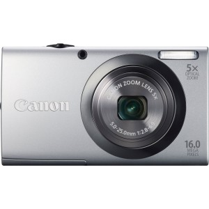 "Canon PowerShot A2300 16 Megapixel Compact Camera - Silver - 2.7"" Touchscreen LCD - 5x Optical Zoom - Optical (IS) - 4608 x 3456 Image - 1280 x 720 Video - PictBridge - HD Movie Mode"