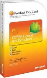 Microsoft Office 2010 Home and Student (Product Key Card) - Activates on 1 Computer(Download)