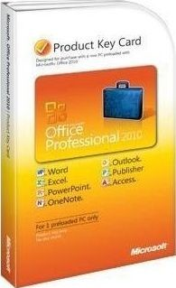 Microsoft Office 2010 Professional - PKC  - Activates on 1 Computer