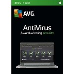 AVG Internet Security Antivirus 2016 3pcs 1Yr