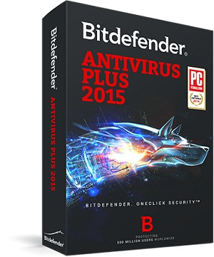 Bitdefender Antivirus Plus 2015 1 User 1 YR